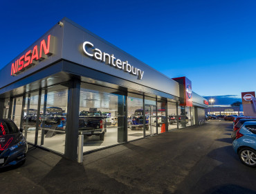 Canterbury Nissan showroom
